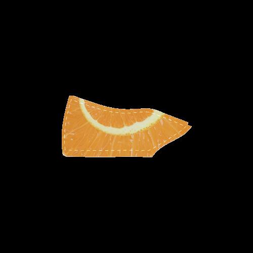 Citrus Orange Spiral Droste Men's Slip-on Canvas Shoes (Model 019)