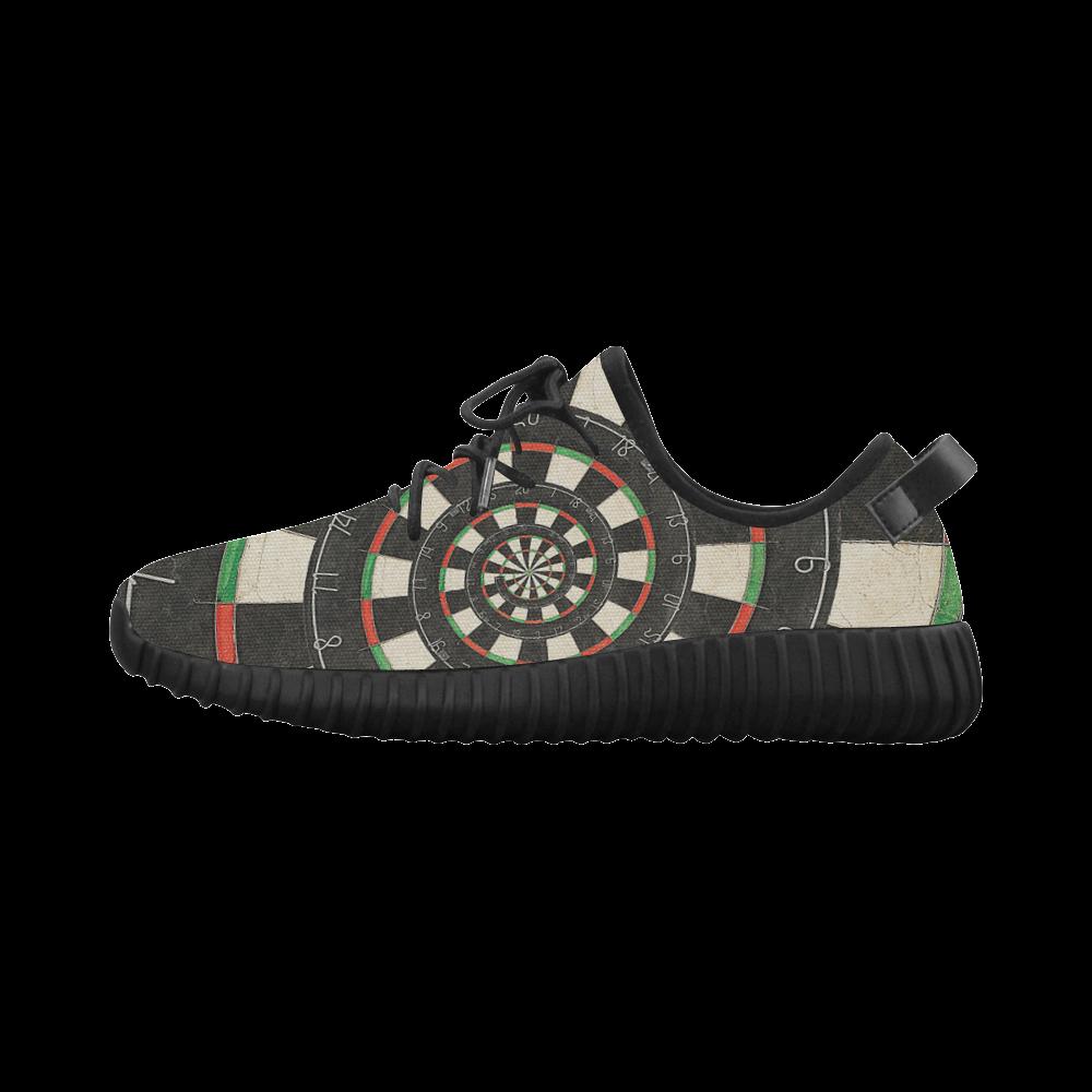 Dart Board Spiral Droste Grus Women's Breathable Woven Running Shoes (Model 022)