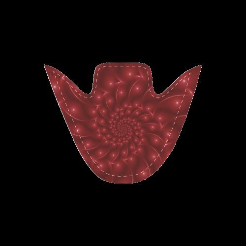 Digital Art Glossy Red Spiral Fractal Men's Slip-on Canvas Shoes (Model 019)