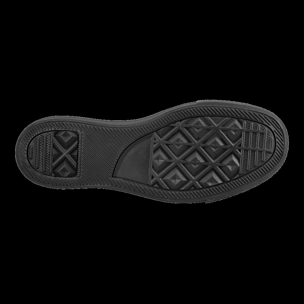 Digital Art Glossy Red Fractal Spiral Men's Slip-on Canvas Shoes (Model 019)