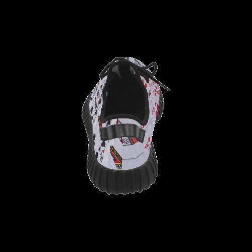 Casino Poker Cards Royal Flush Spiral Droste Grus Women's Breathable Woven Running Shoes (Model 022)