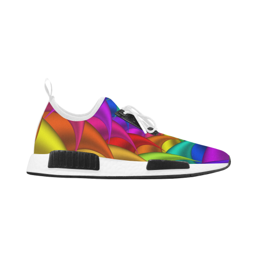 Psychedelic Rainbow Spiral Women's Draco Running Shoes (Model 025)