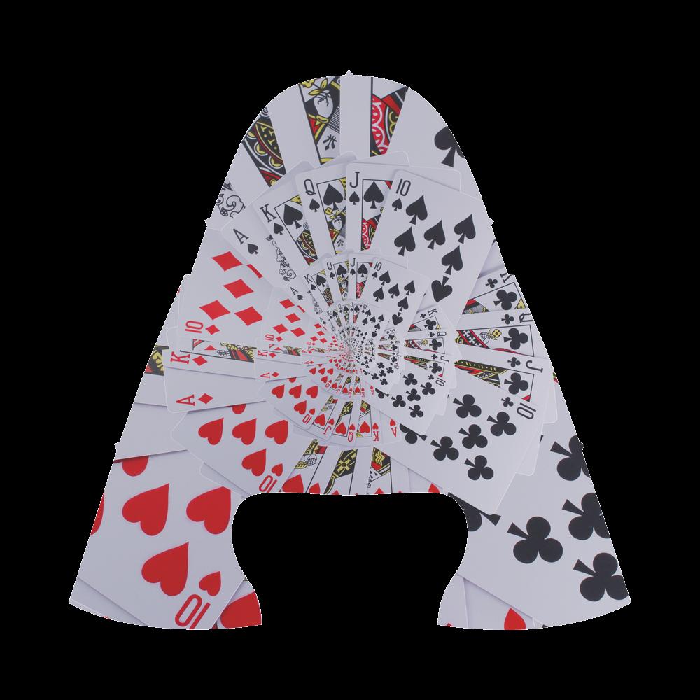 Casino Poker Cards Royal Flush Spiral Droste Men's Draco Running Shoes (Model 025)
