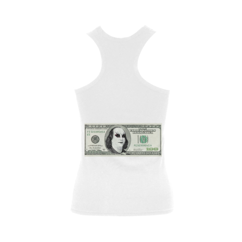 Funny Parody Gothic One Hundred Dollar Banknote Women's Shoulder-Free Tank Top (Model T35)