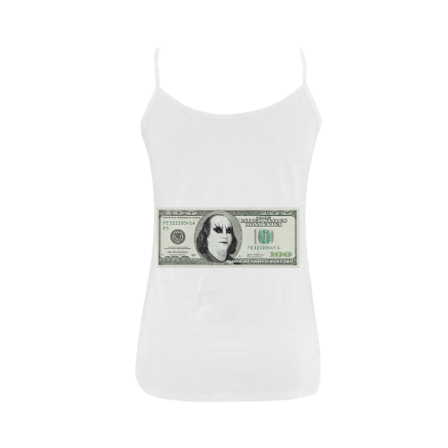 Funny Parody Gothic One Hundred Dollar Banknote Women's Spaghetti Top (USA Size) (Model T34)