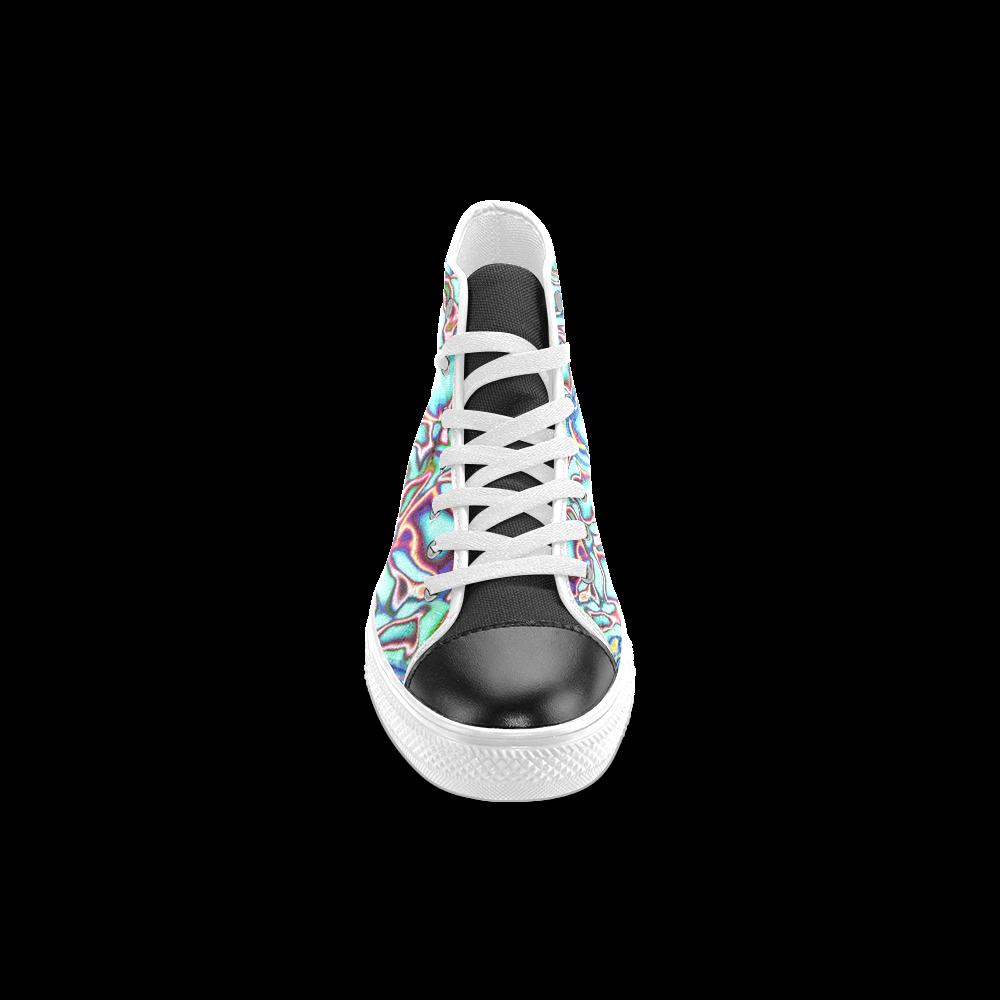 Blast-o-Blob #4 - Jera Nour Women's Classic High Top Canvas Shoes (Model 017)
