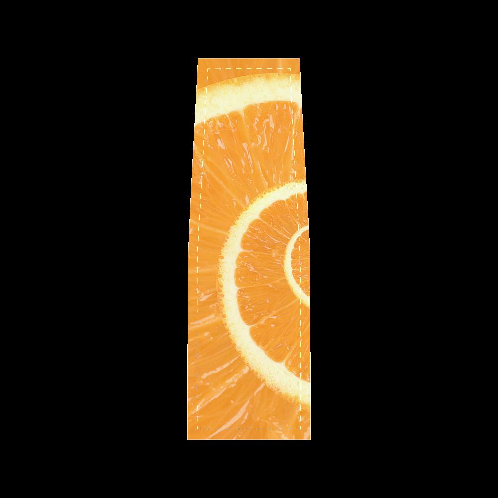Citrus Orange Spiral Droste Saddle Bag/Small (Model 1649) Full Customization