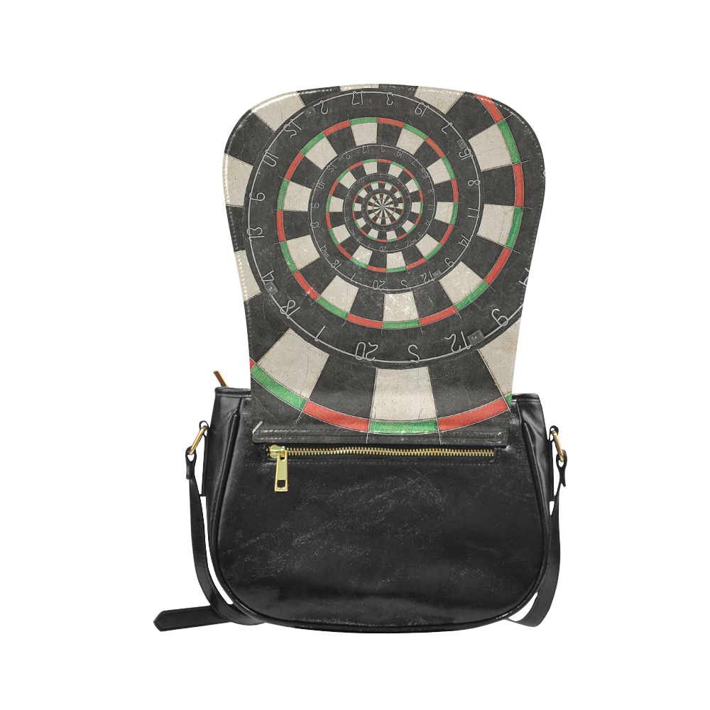 Dart Board Spiral Droste Classic Saddle Bag/Large (Model 1648)