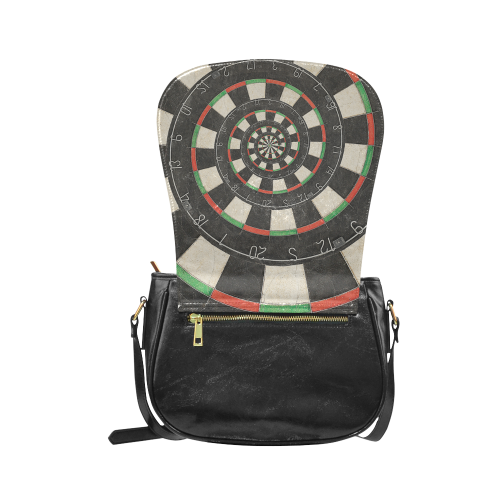 Dart Board Spiral Droste Classic Saddle Bag/Small (Model 1648)