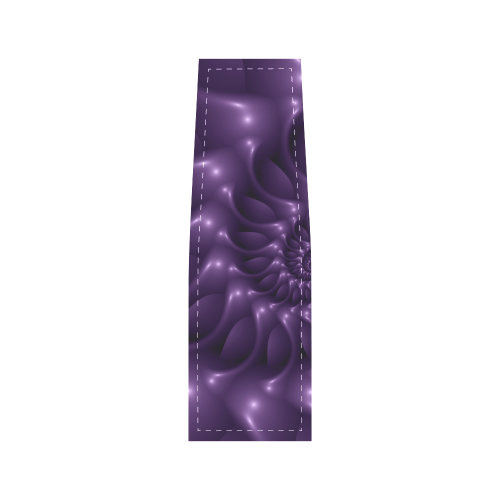 Glossy Purple Spiral Fractal Saddle Bag/Small (Model 1649) Full Customization