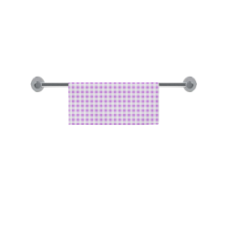 "Lavender Gingham Square Towel 13""x13"""