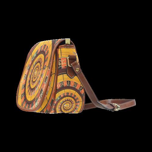 Casino Roullette Wheel Spiral Droste Saddle Bag/Large (Model 1649)