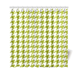 "houndstooth green Shower Curtain 69""x70"""