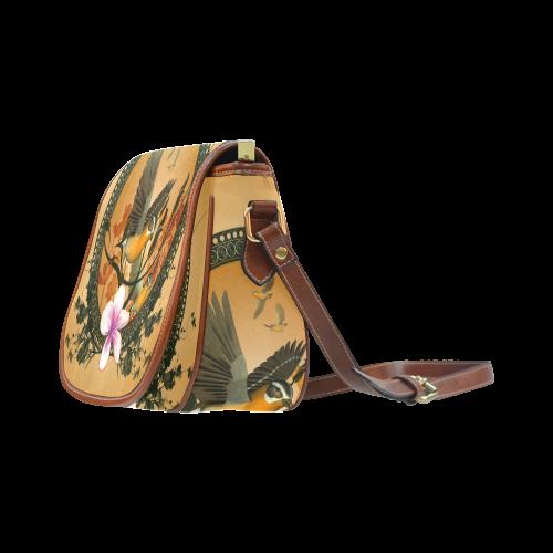 Birds Saddle Bag/Small (Model 1649) Full Customization