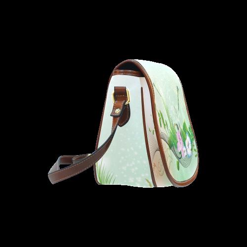 Flower power Saddle Bag/Large (Model 1649)