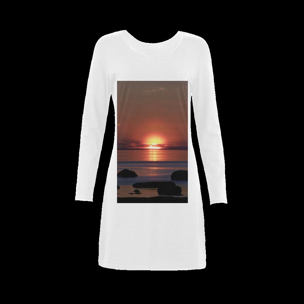 Shockwave Sunset Demeter Long Sleeve Nightdress (Model D03)