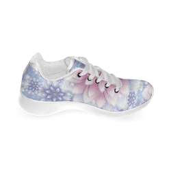 ornaments pink+blue Women's Running Shoes (Model 020)