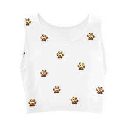 Tiger Paw Women's Crop Top (Model T42)
