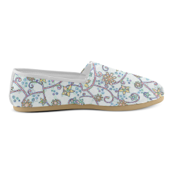 Floral Swirls Unisex Casual Shoes (Model 004)