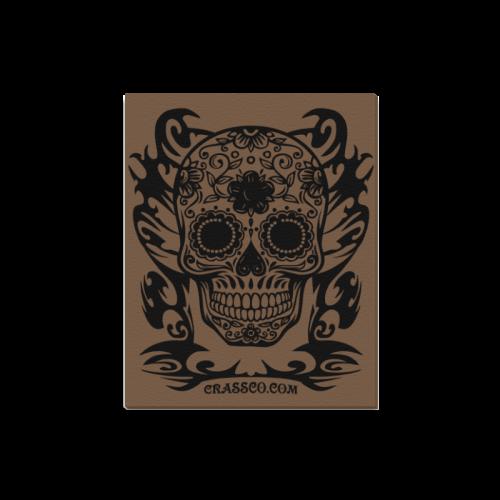 "Skull Tribal brown Canvas Print 16""x20"""