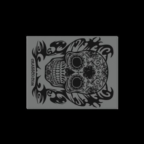"Skull Tribal grey Canvas Print 16""x20"""