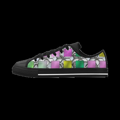 Square Nr1 Aquila Microfiber Leather Men's Shoes (Model 028)