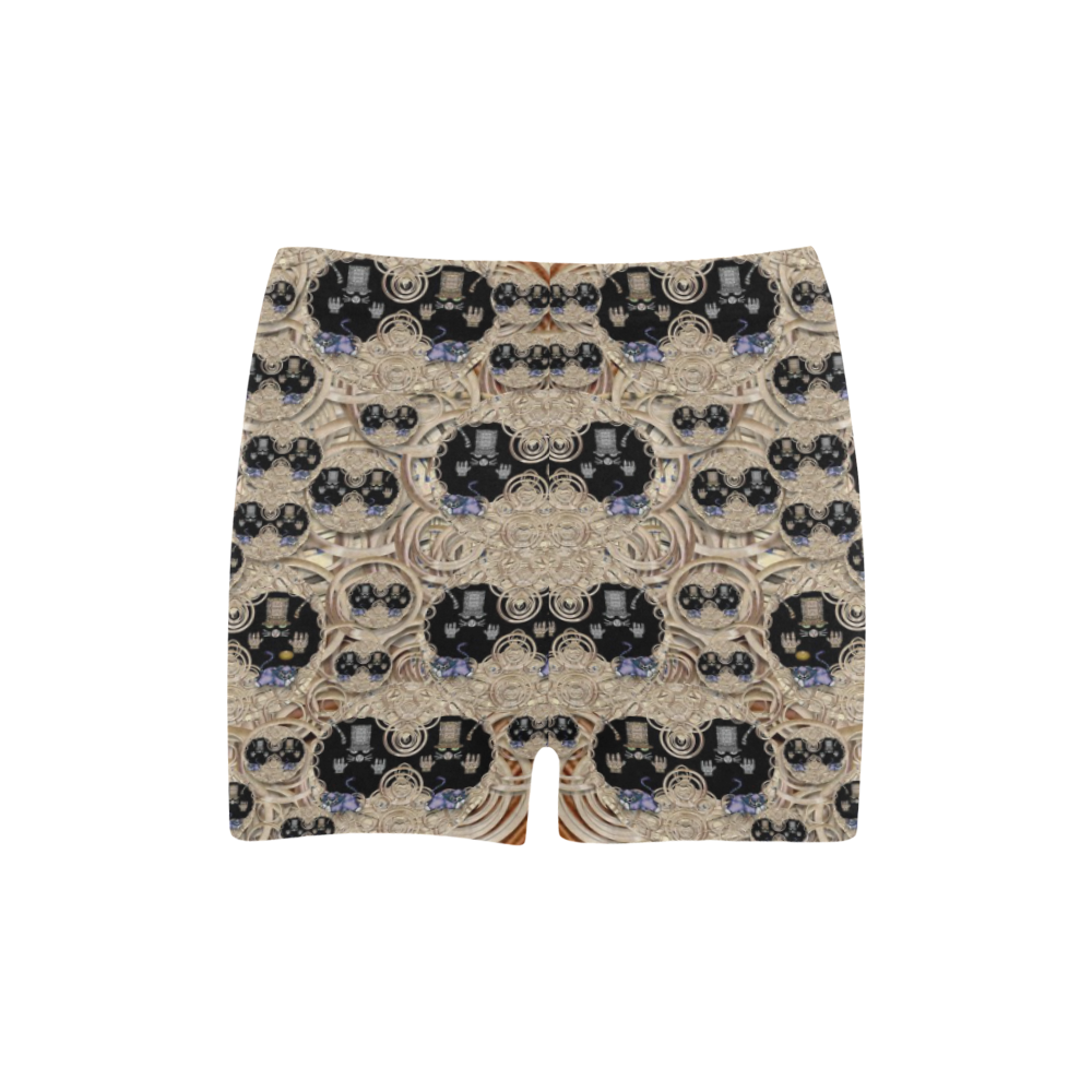 big cats and kittens in the night Briseis Skinny Shorts (Model L04)