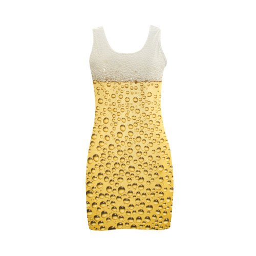 Close Up Beer Glass Novelty Medea Vest Dress (Model D06)