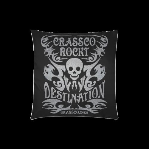"SKULL DESTINATION Custom Zippered Pillow Case 18""x18""(Twin Sides)"