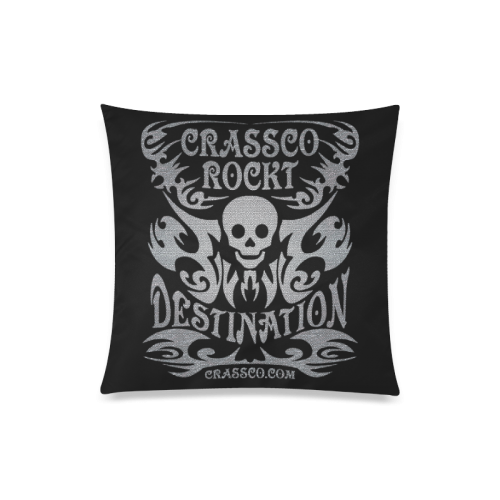"SKULL DESTINATION Custom Zippered Pillow Case 20""x20""(Twin Sides)"