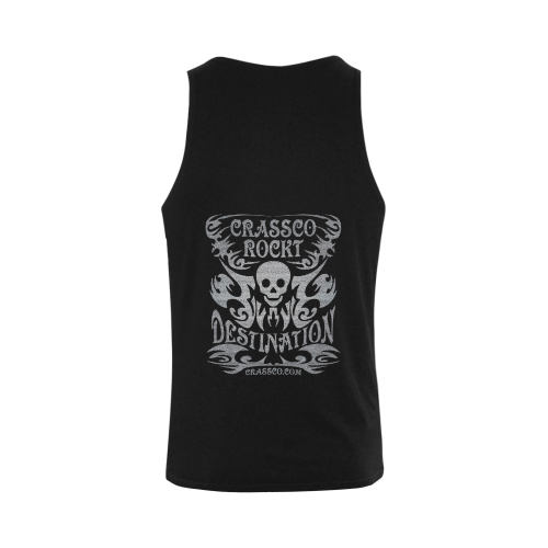 SKULL DESTINATION SILVER Plus-size Men's Shoulder-Free Tank Top (Model T33)