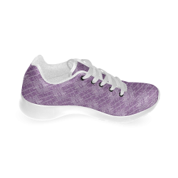 Lilac Jacuard Women's Running Shoes (Model 020)