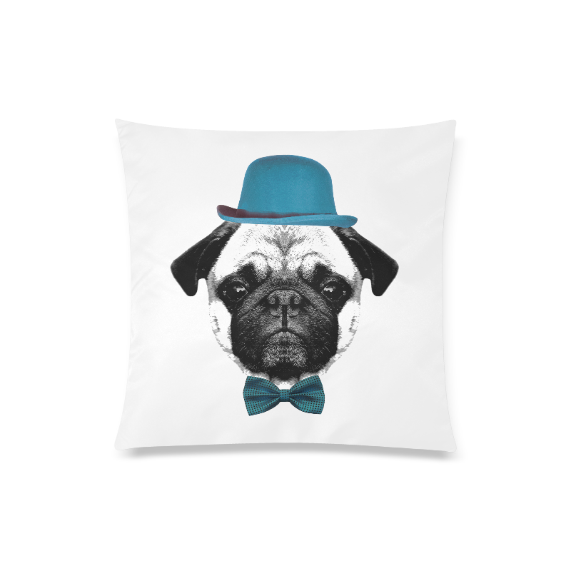 """French Bulldog Puppy Custom Zippered Pillow Case 20""""x20""""(Twin Sides)"""