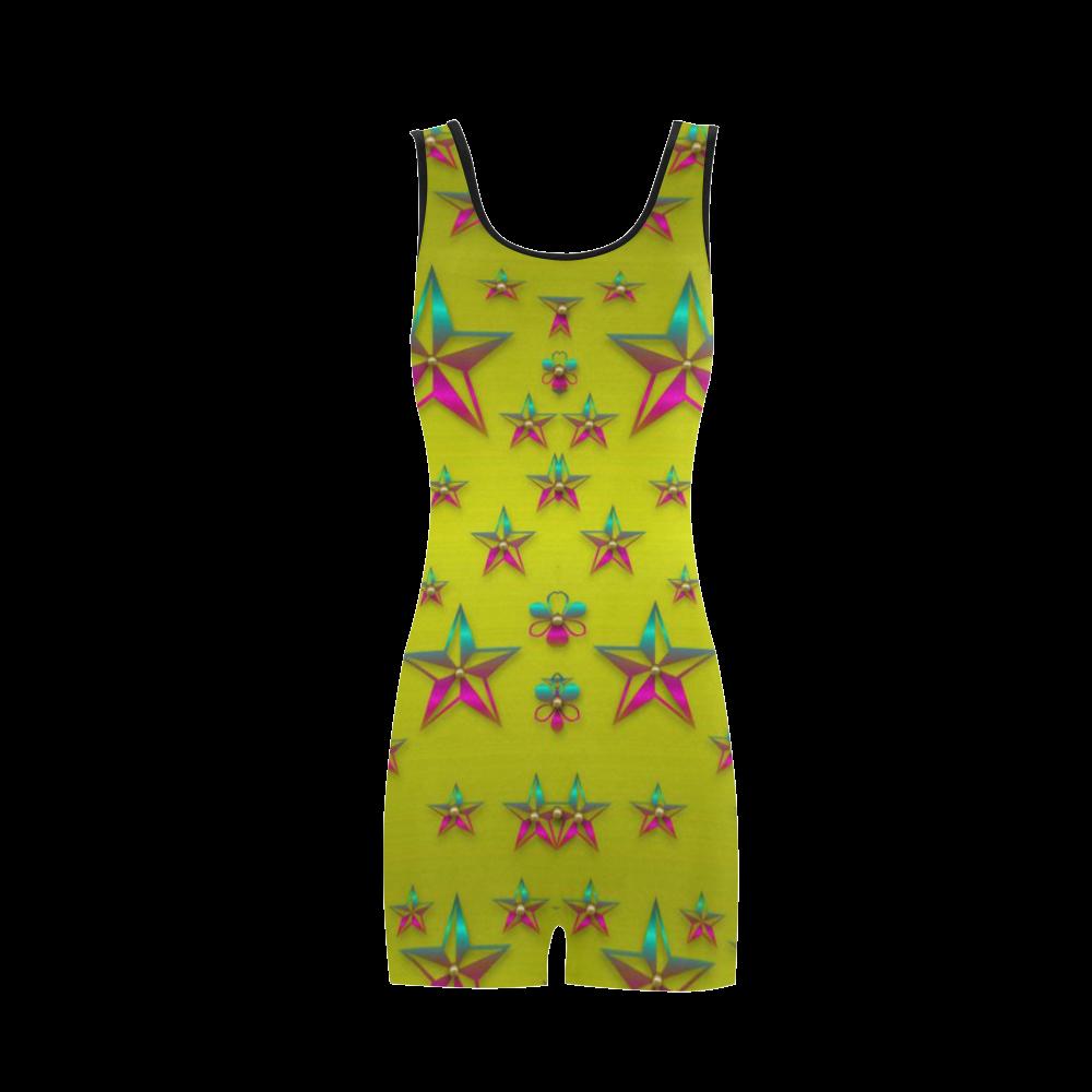 Flower Power Stars Classic One Piece Swimwear (Model S03)