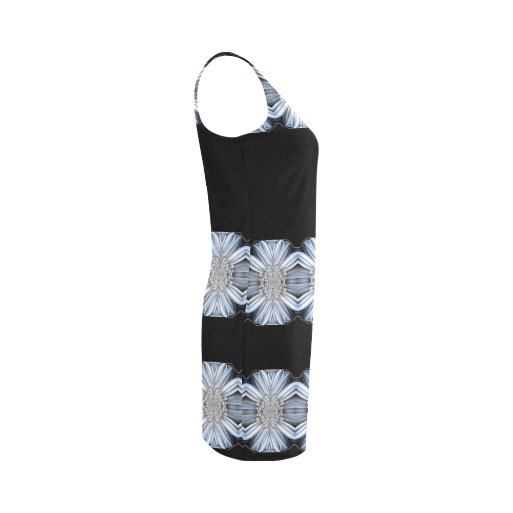 Summer calm in white and black. Medea Vest Dress (Model D06)