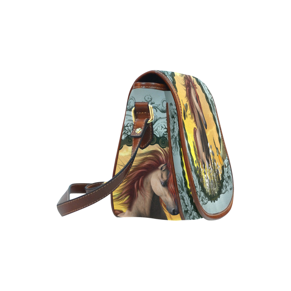 Horse with birds Saddle Bag/Small (Model 1649) Full Customization