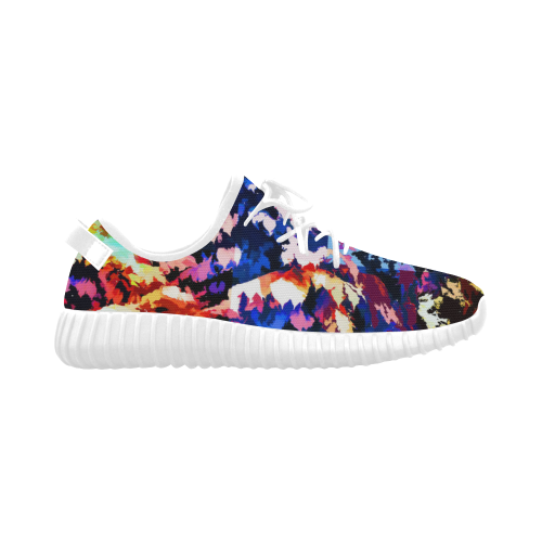 Foliage Patchwork #7 - Jera Nour Grus Women's Breathable Woven Running Shoes (Model 022)