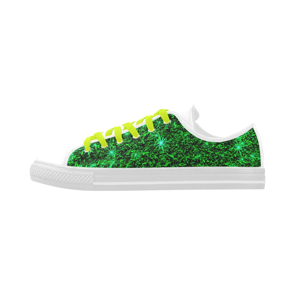 Sparkling Green - Jera Nour Aquila Microfiber Leather Women's Shoes (Model 028)