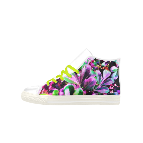 Foliage #3 - Jera Nour Aquila High Top Microfiber Leather Women's Shoes (Model 027)