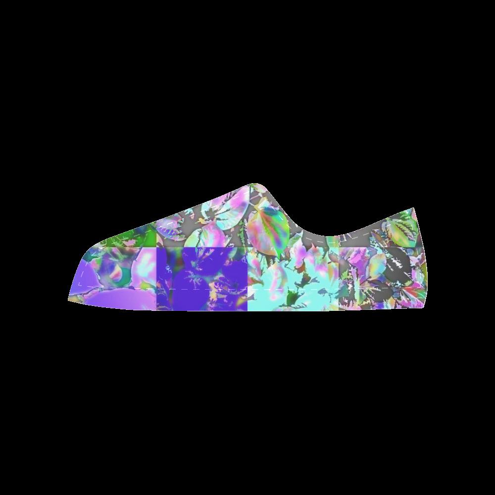 Foliage Patchwork  #12 - Jera Nour Aquila Microfiber Leather Women's Shoes (Model 028)