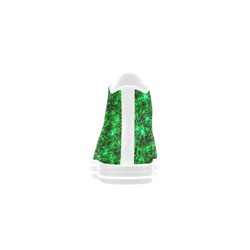 Sparkling Green - Jera Nour Aquila High Top Microfiber Leather Women's Shoes (Model 027)