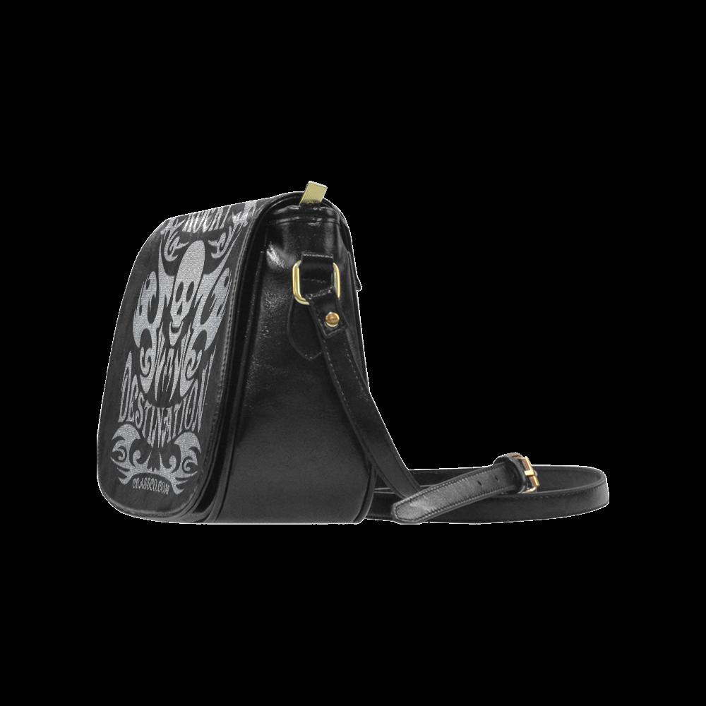 Skull Destination Classic Saddle Bag/Large (Model 1648)