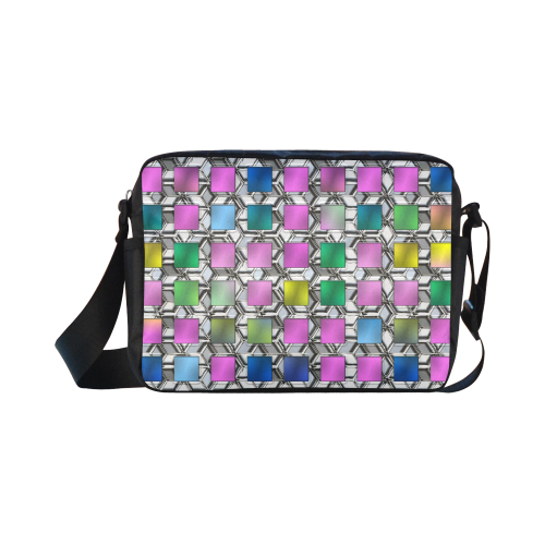 SQUARE MULTICOLOR Classic Cross-body Nylon Bags (Model 1632)