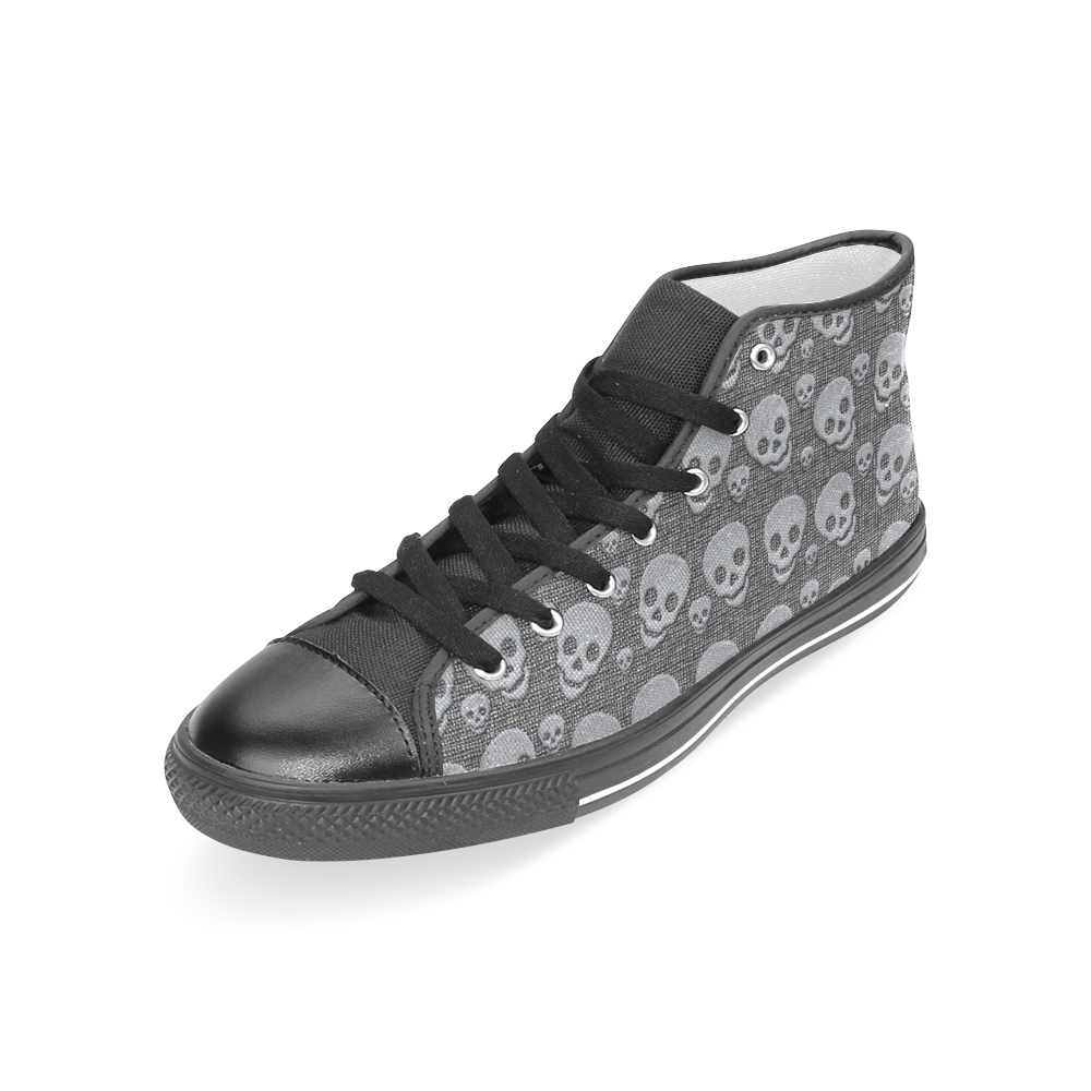 SKULLS EVOLUTION Women's Classic High Top Canvas Shoes (Model 017)