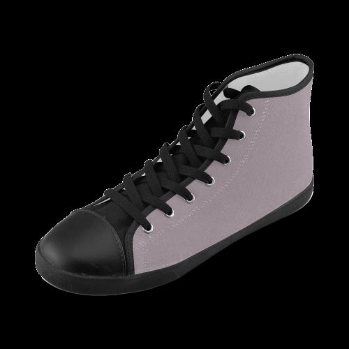 Sea Fog High Top Canvas Kid's Shoes (Model 002)