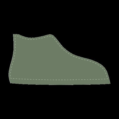 Vineyard Green Men's High Top Canvas Shoes (Model 002)