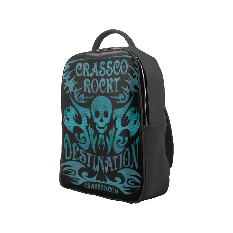 SKULL DESTINATION BLUE Popular Backpack (Model 1622)