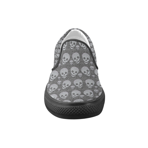 SKULLS EVOLUTION Women's Unusual Slip-on Canvas Shoes (Model 019)