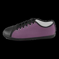 Wood Violet Men's Canvas Shoes (Model 016)