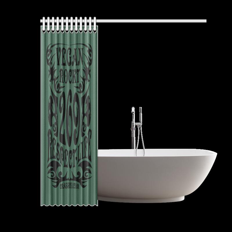"VEGAN RESPECT LIFE Shower Curtain 60""x72"""